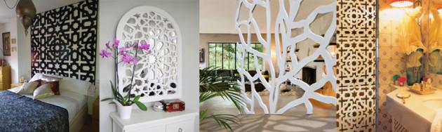 Celosias y separadores de ambientes, celosias modernas interior