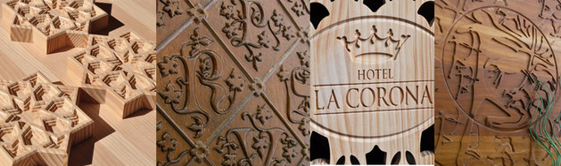 Tallas madera, paneles tallados, letras artesanales talladas,