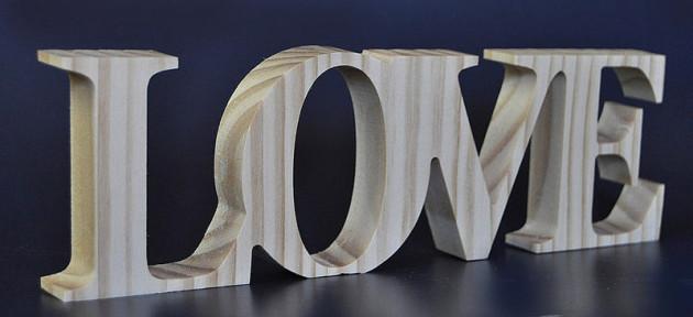 El rinc n de arte palabras decorativas madera - Letras de madera decorativas ...